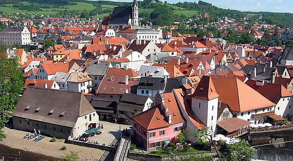 Cesky Krumlov, Boemia, Repubblica Ceca. Autore Rubel. Licenza Creative Commons Attribuzione-Condividi allo stesso modo