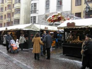 Mercatini di Natale di Innsbruck, Austria. Autore e Copyright: Liliana Ramerini